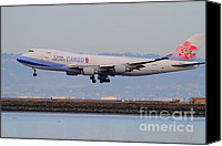 Airways Canvas Prints - China Airlines Cargo Jet Airplane At San Francisco International Airport SFO . 7D12301 Canvas Print by Wingsdomain Art and Photography