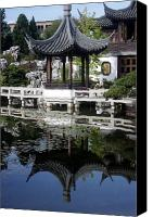 Urban Scenes Canvas Prints - China Garden Canvas Print by David Bearden