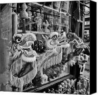 Nyc Photo Canvas Prints - Chinatown Dragons NYC Canvas Print by John Farnan