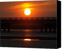 Bridge Tapestries - Textiles Canvas Prints - Chincoteague Island Bay Canvas Print by Kim
