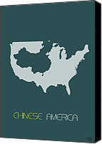 Multicultural Canvas Prints - Chinese America Poster Canvas Print by Irina  March