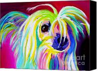 Pure Canvas Prints - Chinese Crested - Fancy Pants Canvas Print by Alicia VanNoy Call
