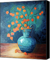 Blue Canvas Prints - Chinese Lanterns Canvas Print by Enzie Shahmiri
