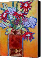 Diane Fine Canvas Prints - Chinese Vase Canvas Print by Diane Fine