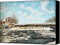 Old Mills Canvas Prints - Chisholms Mill Canvas Print by Peggy Holcroft