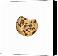 Snack Food Canvas Prints - Chocolate Chip Cookie Canvas Print by Joana Kruse