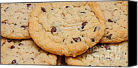 Junk Canvas Prints - Chocolate Chip Cookies Pano Canvas Print by Andee Photography