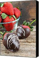 Serve Photo Canvas Prints - Chocolate Covered Strawberries Canvas Print by Darren Fisher