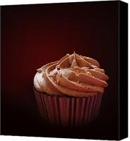 Copy Space Canvas Prints - Chocolate cupcake isolated Canvas Print by Jane Rix