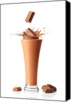 Shake Canvas Prints - Chocolate Milkshake Smoothie Canvas Print by Christopher Elwell and Amanda Haselock