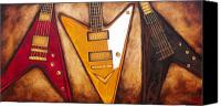 Gibson Guitar Canvas Prints - Choose Your Flight Canvas Print by Darlene Keeffe