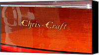Motor Boats Canvas Prints - Chris Craft Logo Canvas Print by Michelle Calkins