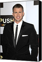 Black Tie Canvas Prints - Chris Evans At Arrivals For Push Canvas Print by Everett