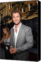 Captain America Canvas Prints - Chris Hemsworth At Arrivals For Captain Canvas Print by Everett