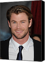 Red Carpet Canvas Prints - Chris Hemsworth At Arrivals For Thor Canvas Print by Everett