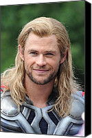Avengers Photo Canvas Prints - Chris Hemsworth On Location For The Canvas Print by Everett