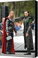 Avengers Photo Canvas Prints - Chris Hemsworth, Tom Hiddleston Canvas Print by Everett