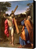 Appearance Canvas Prints - Christ Appearing to St. Peter on the Appian Way Canvas Print by Annibale Carracci