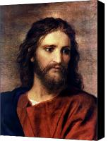 Portrait Canvas Prints - Christ at 33 Canvas Print by Heinrich Hofmann