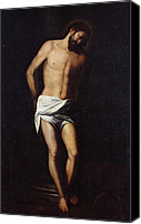 Bondage Canvas Prints - Christ bound to the column Canvas Print by Alonso Cano