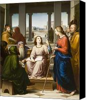 Enthroned Canvas Prints - Christ Disputing with the Doctors in the Temple Canvas Print by Franz von Rohden