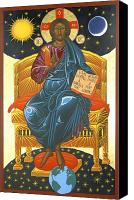 Byzantine Icon Canvas Prints - Christ Enthroned Icon  Canvas Print by Mark Dukes