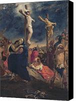Magdalene Canvas Prints - Christ on the Cross Canvas Print by Delacroix