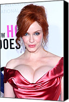 Updo Canvas Prints - Christina Hendricks At Arrivals For I Canvas Print by Everett