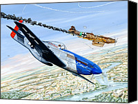 Air Plane Drawings Canvas Prints - Christmas Carol Canvas Print by Charles Taylor