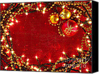 Magic Canvas Prints - Christmas Frame Canvas Print by Carlos Caetano