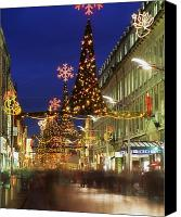 Walked Canvas Prints - Christmas In Dublin, Henry Street At Canvas Print by The Irish Image Collection