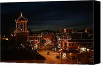 Kansas City Canvas Prints - Christmas in the City Canvas Print by Eddie Miller