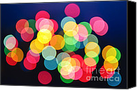 Spot Canvas Prints - Christmas lights abstract Canvas Print by Elena Elisseeva