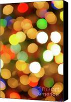Xmas Photo Canvas Prints - Christmas Lights Canvas Print by Carlos Caetano