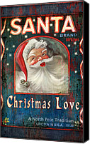 Santa Canvas Prints - Christmas love Canvas Print by Joel Payne