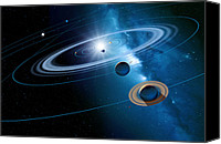 Planetary Canvas Prints - Christmas Star As Planetary Conjunction Canvas Print by Detlev Van Ravenswaay