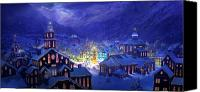 Old Town Canvas Prints - Christmas Town Canvas Print by Philip Straub