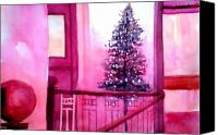 Anil Nene Canvas Prints - Christmas Tree Canvas Print by Anil Nene