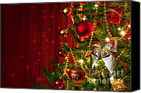 Starry Photo Canvas Prints - Christmas Tree Detail Canvas Print by Carlos Caetano