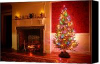 Xmas Photo Canvas Prints - Christmas Tree Canvas Print by Olivier Le Queinec