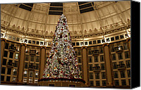 West Baden Canvas Prints - Christmas Tree Canvas Print by Sandy Keeton