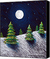 Moonlight Pastels Canvas Prints - Christmas Trees II Canvas Print by Nancy Mueller