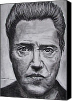 Fiction Drawings Canvas Prints - Christopher Walken Canvas Print by Eric Dee