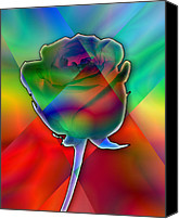 Chromatic Canvas Prints - Chromatic Rose Canvas Print by Anthony Caruso