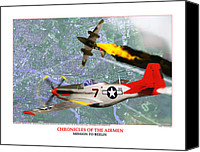 D.c. Digital Art Canvas Prints - Chronicles Of The Airmen - Mission To Berlin Canvas Print by Jerry Taliaferro