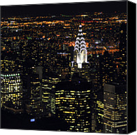 Chrysler Canvas Prints - Chrysler Building At New York City Canvas Print by Philippe Brunel