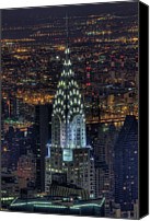 Chrysler Canvas Prints - Chrysler Building At Night Canvas Print by Jason Pierce Photography (jasonpiercephotography.com)