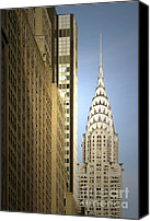 Auto Canvas Prints - Chrysler Building NYC - Streamlined majesty Canvas Print by Christine Till