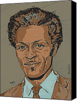 Chuck Berry Canvas Prints - Chuck Berry - Brown-Eyed Handsome Man  Canvas Print by Suzanne Gee