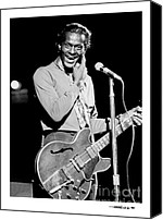 Chuck Berry Canvas Prints - Chuck Berry 1 Canvas Print by Jonathan Fine
